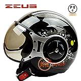 バイクヘルメット ZEUS 218C ヘルメット ジェット パイロット PSC付き【商品5/XXLサイズ】