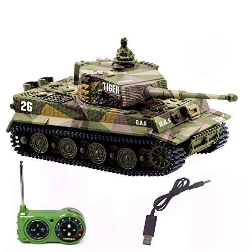 【USB充電ケーブル付き】手のひらサイズ1/72 ドイツ Tiger I ティーガーI RC【砂漠戦...