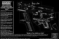 S & W M & PデザインFIXMat BenchMate 11X 17ハンドガンクリーニングマットfeaturing S & W M & P図、ブラック