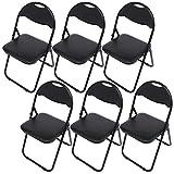 折りたたみ椅子 6脚セット ブラック