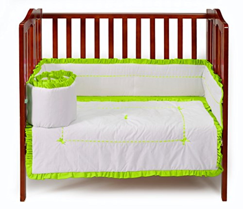 ベビードール寝具ユニークなミニベビーベッド/ポート-ベビーベッド寝具セット、グリーンアップル