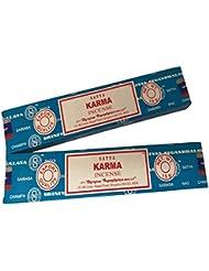 Satya Sai Baba - Karma お香スティック - 2パック (各15グラム)