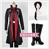 「COSCOOL」 刀剣乱舞 加州清光(かしゅう きよみつ)風 コスプレ衣装+ウィッグ+靴 変装 仮装 コスチューム