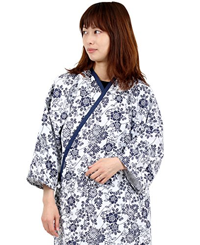 ガーゼ 寝巻き Lサイズ 介護用 ホック留め式 日本製 婦人用 二重袷ガーゼ 綿100% お寝巻 ねまき パジャマ 浴衣 入院 病院 介護 女性 レディース