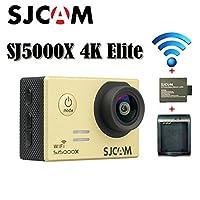 16GB TFカード+ SJCAM sj5000X Eliteスポーツカメラアクションカメラultra-hd 2.0インチLTPS WiFi 4K 24fpsスポーツDV 2.0液晶ntk96660ダイビング30M防水アクションカメラ+ 1個バッテリー充電器+ 1pcs Extraバッテリ(ゴールド)