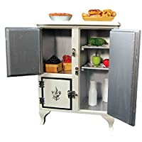 1930's American Style Icebox Designed for 18 Inch Dolls like American Girl. Fridge will Keep Doll Play Food Fresh and