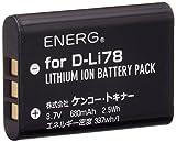 ENERG デジタルカメラ用バッテリー PENTAX D-Li78対応 T-#1089