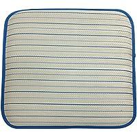 大島屋 座布団 い草 ニューライン ブルー 約53×53cm