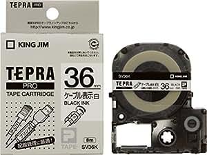 キングジム テープカートリッジ テプラPRO ケーブル表示ラベル 36mm SV36K