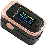 Weallnersse Fingertip Pulse Oximeter Blood Oxygen Saturation Monitor, Heart Rate, Pulse Rate, Perfusion Index For Household, Fitness and Extreme Sports