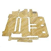 D.Iプランニング カー用品 フロアマット センターコンソール スライド式 7人乗り用 【 トヨタ エスティマ 50系 後期型 】 車用 カーマット 織柄C