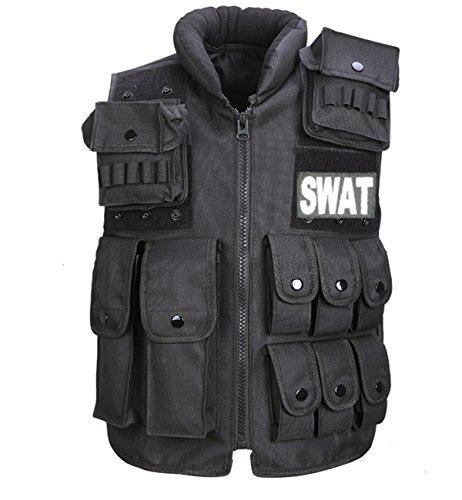 (ジェレミー)Jeremy 特殊部隊 SWAT レプリカ タクティカルベスト ベスト レプリカ ブラック C395 (Bブラック)
