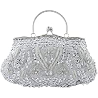 Bagood Women's Vintage Style Beaded Sequined Evening Bag Wedding Party Handbag Clutch Purse