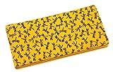鹿革 印伝 長財布 札束入れ 男女兼用 とんぼ柄 黄