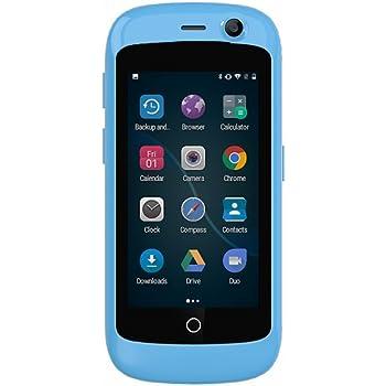 Unihertz Jelly Pro, 世界最小の4Gスマートフォン, 2GBのRAM と 16GBのROM を搭載したAndroid 7.0 Nougat ロック解除された, ブルー 青