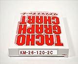 小芝記録紙 ( KOSHIBA ) チャート紙 S-7 【1日用】 120Km/h(赤ライン 26時間) 100枚入リ KM-26-120-2C