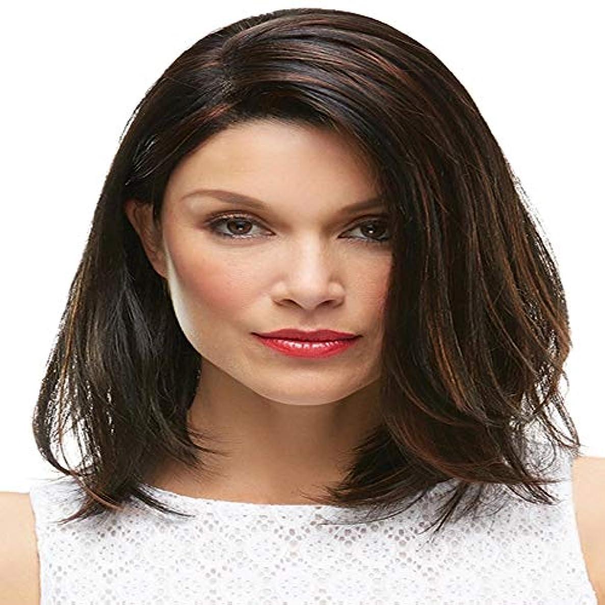 工夫するランチョン影響する女性の黒の短い巻き毛のかつら12