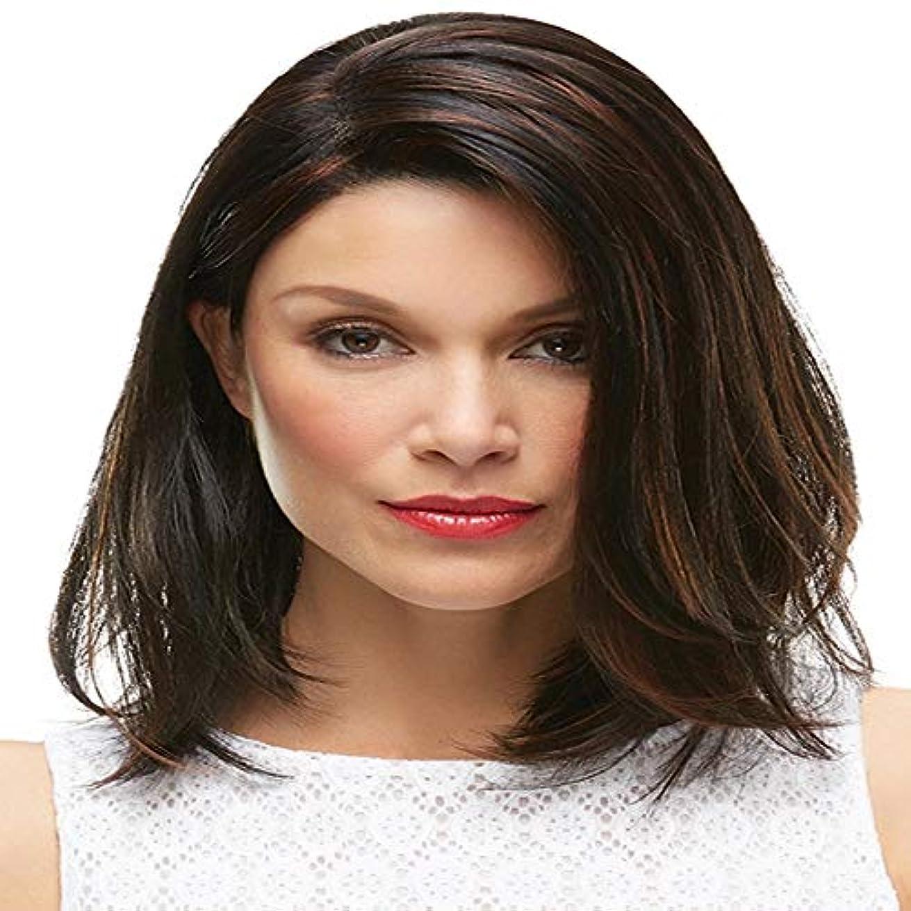 想定代数乳白色女性の黒の短い巻き毛のかつら12