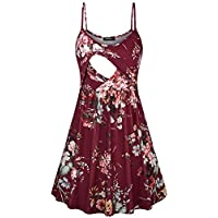 Quinee Women's Spaghetti Strap Maternity Dress Nursing Breastfeeding Dresses