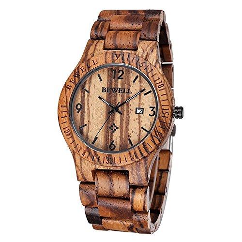 木製腕時計 ウッドウォッチ 腕時計 メンズ アナログ腕時計 天然木 カレンダ...
