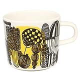 (マリメッコ) MARIMEKKO マリメッコ カップ MARIMEKKO 063293 192 シイルトラプータルハ S2RTOLAPUUTARHA COFFEE CUP マグカップ BLACK/WHITE/YELLOW [並行輸入品]