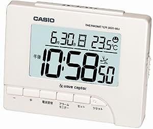 CASIO (カシオ) 目覚し時計 デジタル 電波時計 温度表示 DQD-80J-7JF