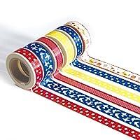 ウルトラプレミアム和紙テープ–Perfectマルチ用途色付きマスキングテープ、壁、美術と工芸、DIY、スクラップブック 15mm