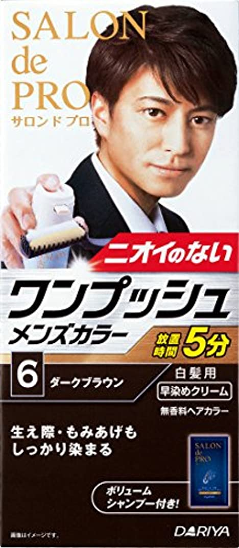 日購入お別れサロン ド プロ ワンプッシュメンズカラー (白髪用) 6 <ダークブラウン>