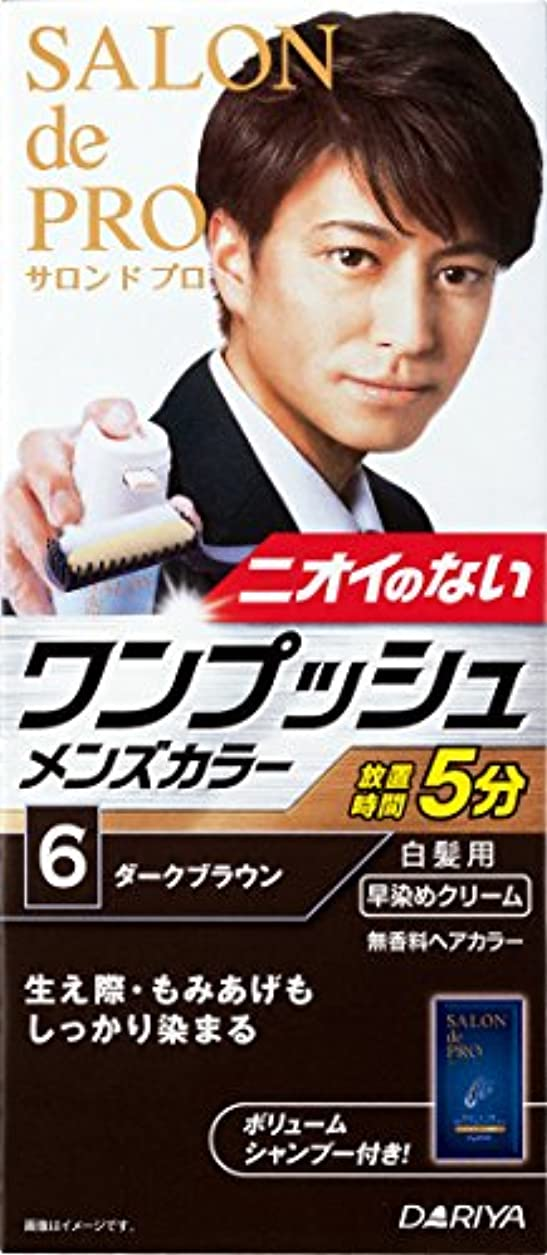 バーマド所得溶かすサロン ド プロ ワンプッシュメンズカラー (白髪用) 6 <ダークブラウン>