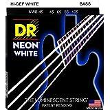 DR ベース弦 NEON ニッケルメッキ ホワイト カラー コーテッド .045-.105 NWB-45