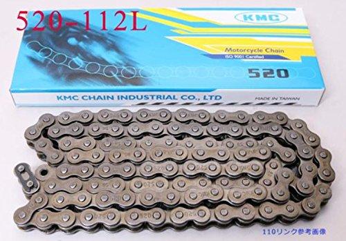 KMCチェーン 520-112L ジェイド インテグラ ジェベル200 DR350SE グラディウス400 GSR400 YZF-R25 ZX6R Z750 F650X デューク125 NC700SDCT コブラ TZR250 Z750/S SV650 KDX200SR F650GS SX200R GSXR250RK …