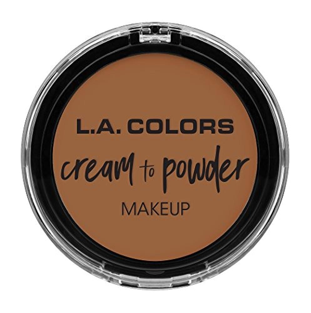 下に憧れ市長L.A. COLORS Cream To Powder Foundation - Sand (並行輸入品)