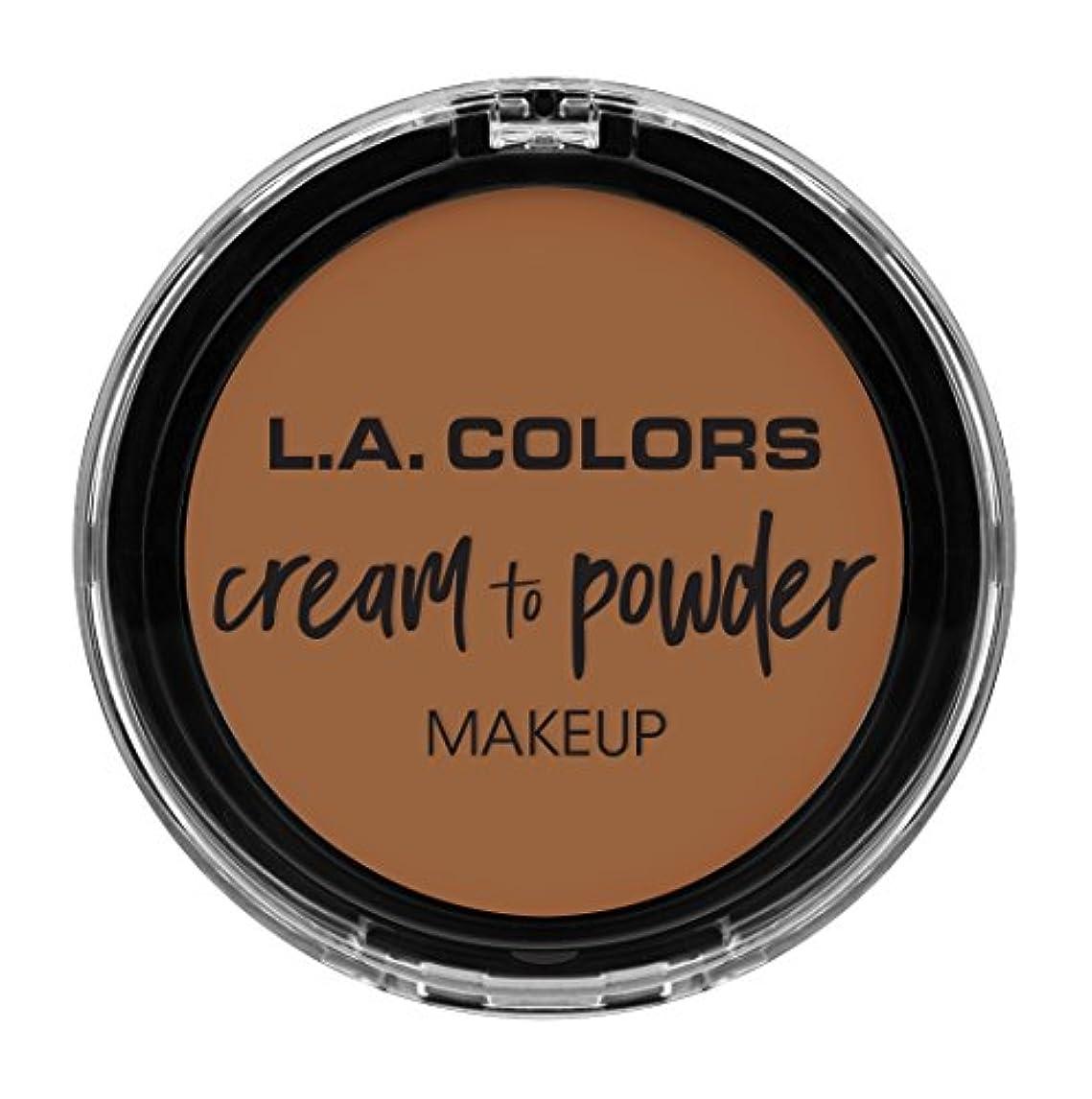 有益貧しいパネルL.A. COLORS Cream To Powder Foundation - Sand (並行輸入品)