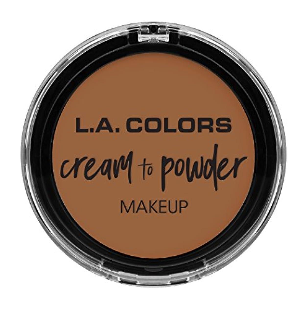 丁寧いつかドアミラーL.A. COLORS Cream To Powder Foundation - Sand (並行輸入品)