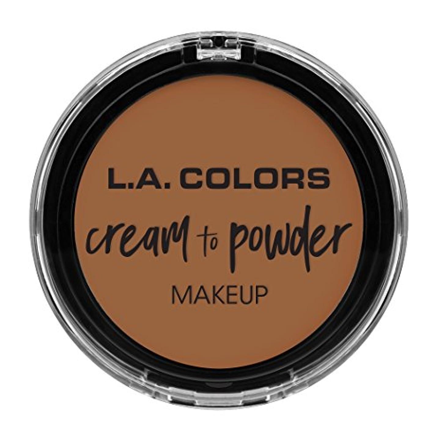 変動する忠実に後L.A. COLORS Cream To Powder Foundation - Sand (並行輸入品)