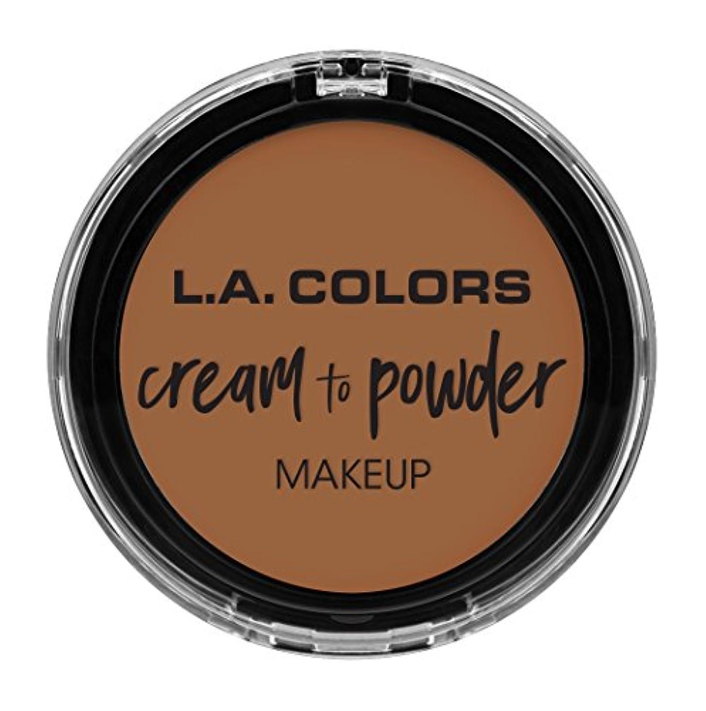 受け入れた維持する昼間L.A. COLORS Cream To Powder Foundation - Sand (並行輸入品)