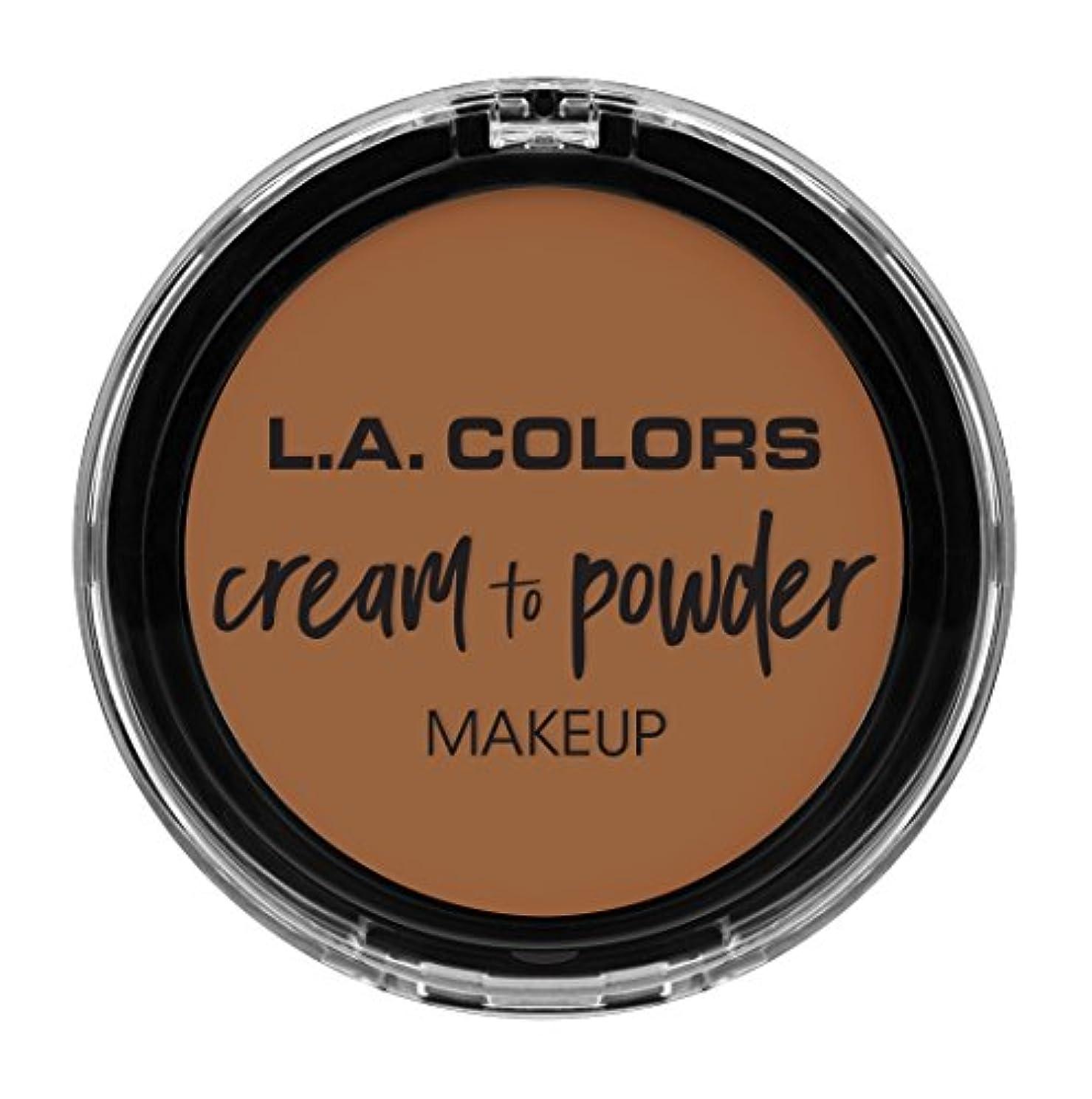 サンドイッチサッカー宿泊L.A. COLORS Cream To Powder Foundation - Sand (並行輸入品)