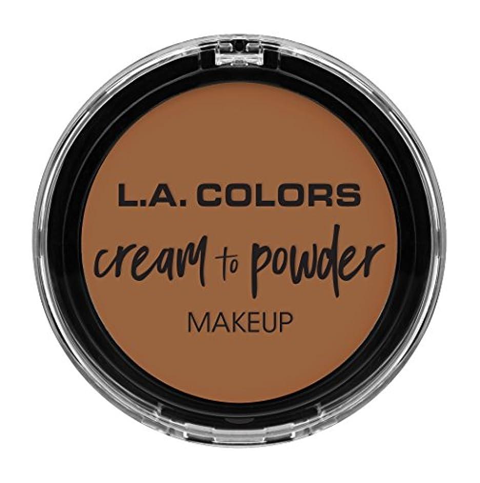 ペフ割り当てる寄稿者L.A. COLORS Cream To Powder Foundation - Sand (並行輸入品)
