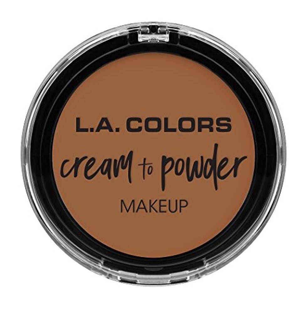 更新する統合デコードするL.A. COLORS Cream To Powder Foundation - Sand (並行輸入品)