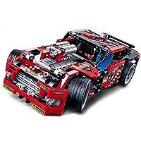DealsDepot 組み立てブロックレーストラックカー トランスフォーマー玩具