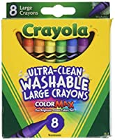 Crayola Washable Crayons, Large, 8 Colors - 2 Packs by Crayola