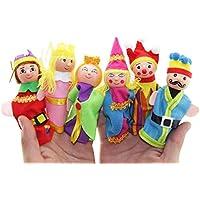 Finger Puppet、elevin ( TM ) 6pcs子供キッズベビー男の子女の子指おもちゃHand Puppetsクリスマスギフト教育玩具とは誤って