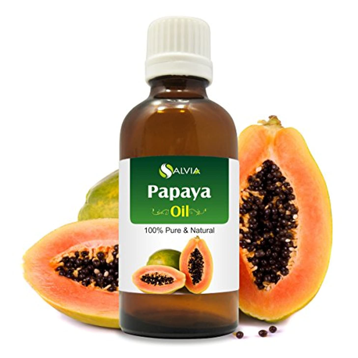 ふざけた無駄だ隔離PAPAYA OIL 100% NATURAL PURE UNDILUTED UNCUT ESSENTIAL OIL 50ML