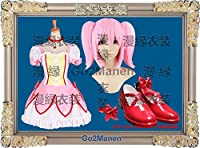コスプレ衣装+ウイッグ+靴 FM1 魔法少女まどか マギカ鹿目まどか 仮装 ステージ 舞台服 ハロウィン クリスマス