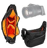 衝撃吸収性、耐水性Carry Bag inブラックandオレンジ–と互換性Lytro Illum–by DURAGADGET _ US