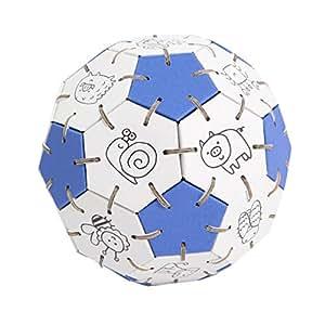 ぬりえくみくみボール 青 立体パズル 医療技師考案、特許取得製品‼ ダンボール製なので地球に優しいエコ商品です。