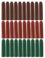 Sipliv Jinhao 万年筆のインクに似合うカートリッジ、 標準的なサイズ 、1パック30個入、3つのインク色(ブラウン、レッド、グリーン)
