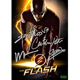 The Flash TV Series Print - Cast Grant Gustin Wentworth Miller Candice Patton Stephen Amell (11.7 X 8.3)