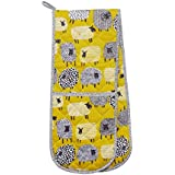 Ulster Weavers 7DTS03 Dotty Sheep Double Oven Glove, Cotton/Chartreuse/White/Black