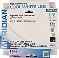 "Meridian Electric 13144Meridian 22W相当LED Circline電球、8"""